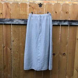 Max Studio light grey maxi skirt GUC size L